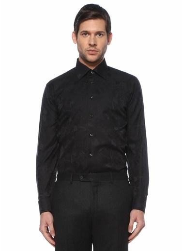Eton Eton  Modern Yaka Mikro Desenli Smokin Gömleği 101612254 Siyah